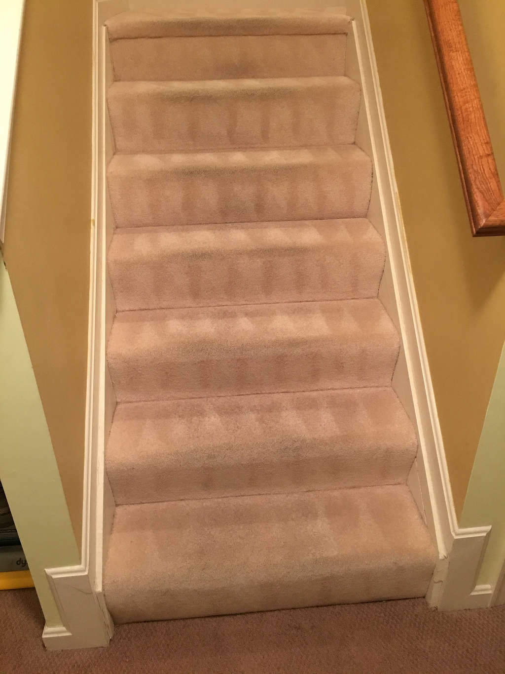 Carpet cleaning stairs after Abingdon
