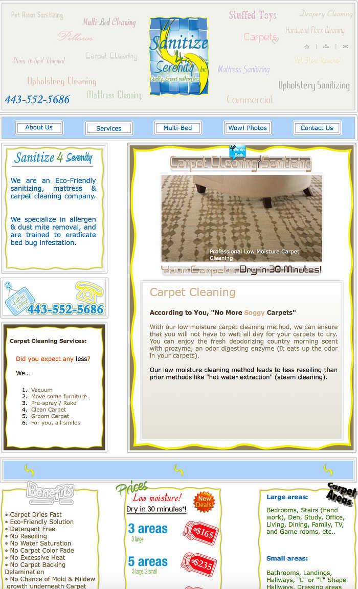 Sanitize 4 Serenity previously design webpage