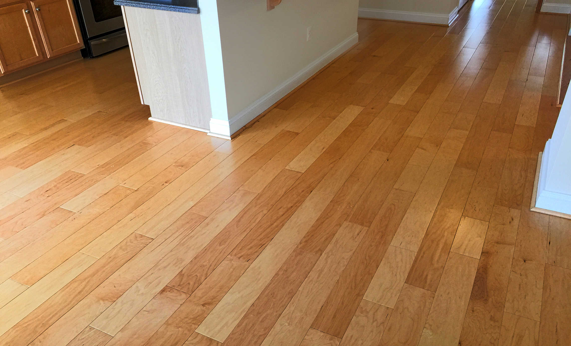 Hardwood floors Sanitize 4 Serenity cleaned and polished