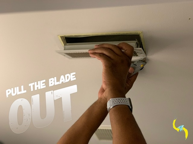 Cutting around a supply vent