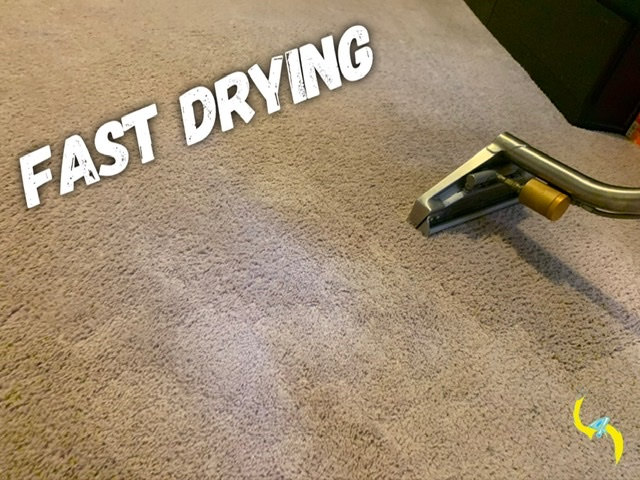 Fast drying carpets