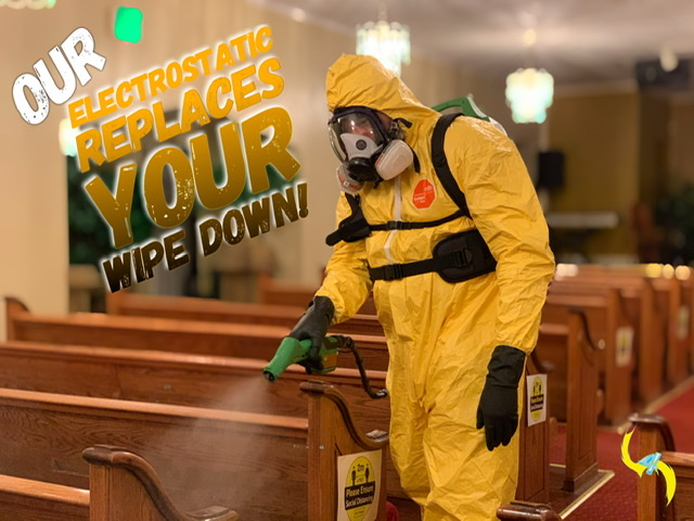 Electrostatic spray disinfectant