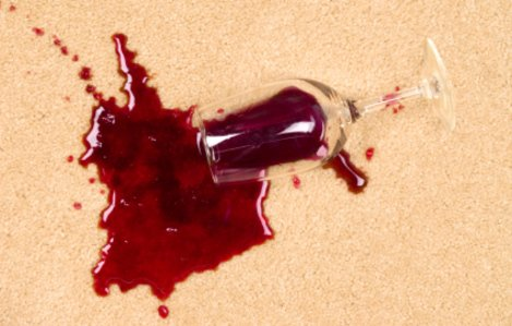 Wine spill on carpets for Sanitize 4 Serenity