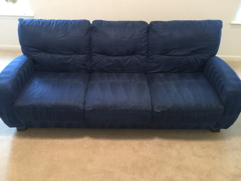 blue sofa cleaning after sanitize 4serenity