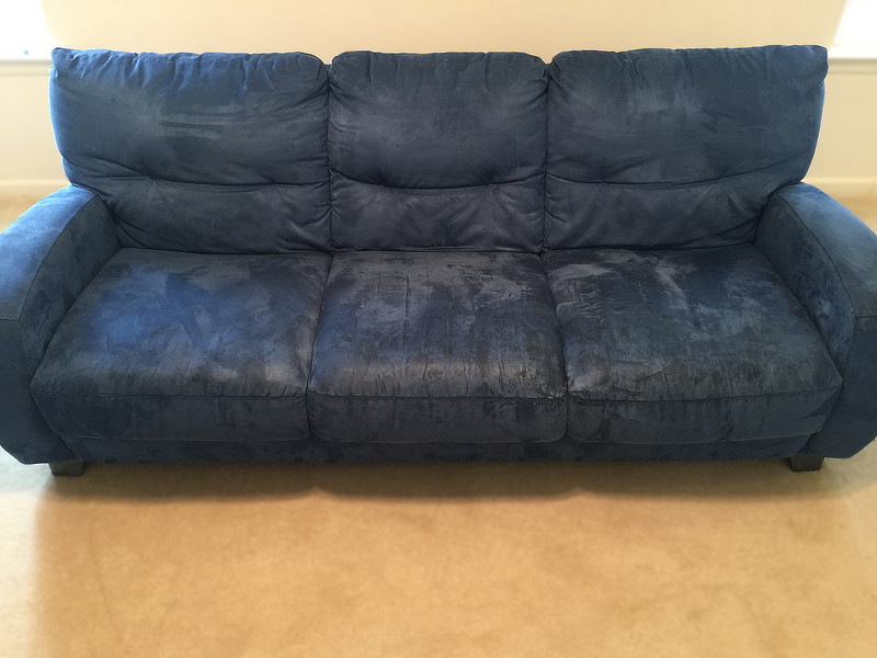 blue sofa cleaning before sanitize 4 serenity